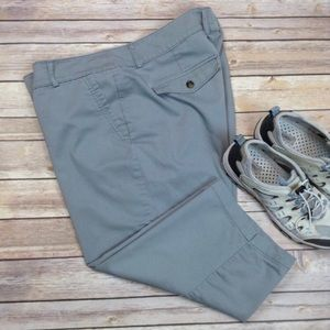 Dockers gray casual pocketed capris